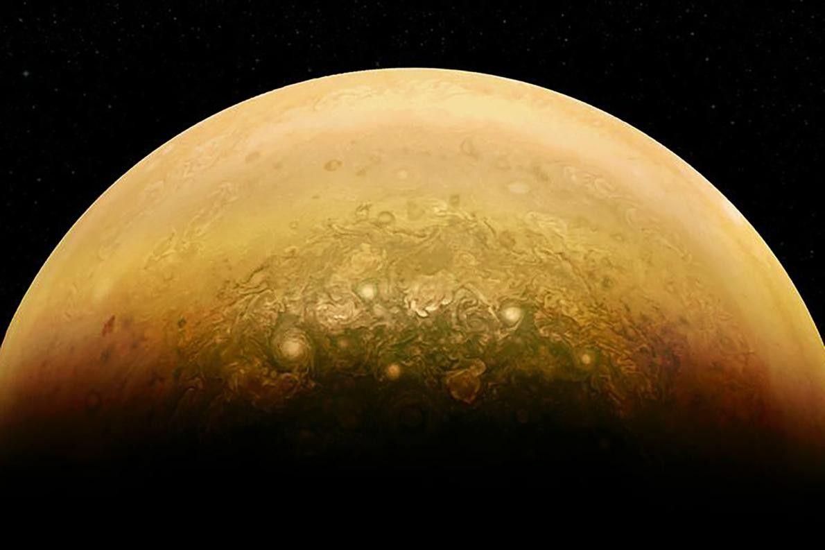 Sonnenbeschienene Seite vom Jupiter