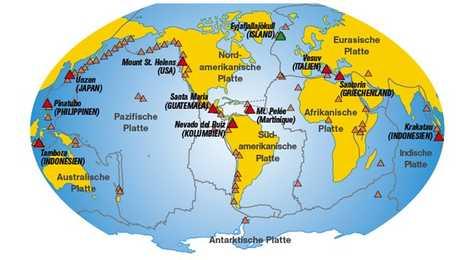 Vulkane Der Erde Karte.Die Kraft Der Vulkane National Geographic