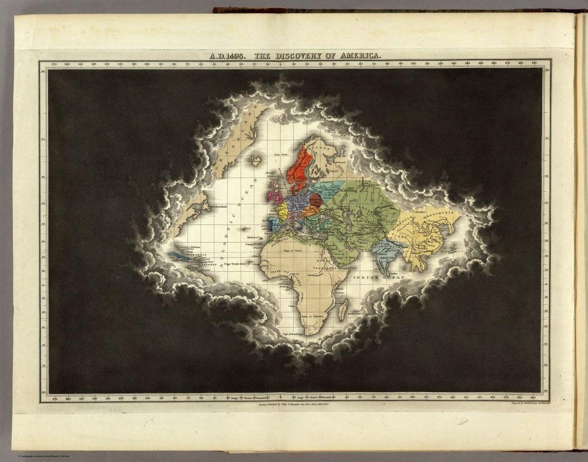 Die Wolken der Unkenntnis weichen dem zunehmenden geografischen Wissen. Die Karten im historischen Atlas von Edward ...
