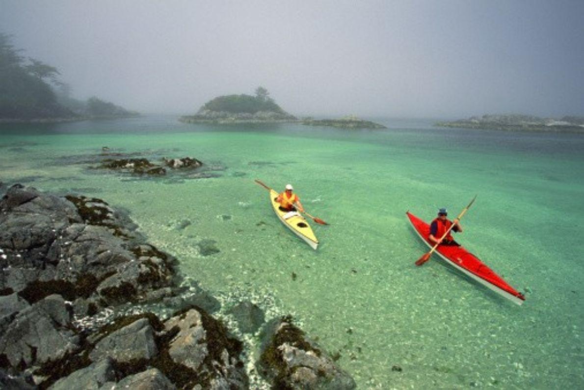 Die Broken Group Islands im Pacific-Rim-Nationalpark sind ein wahres Paradies für Kajakfahrer. Sie bestehen aus mehr ...