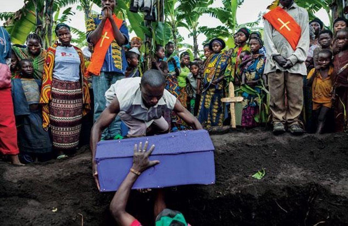 Kibati, ein Camp außerhalb von Goma