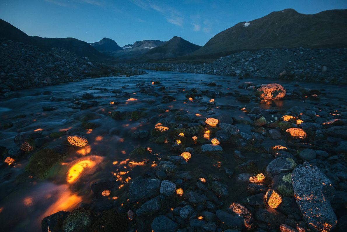 Neodymhaltige Steine in Grönland