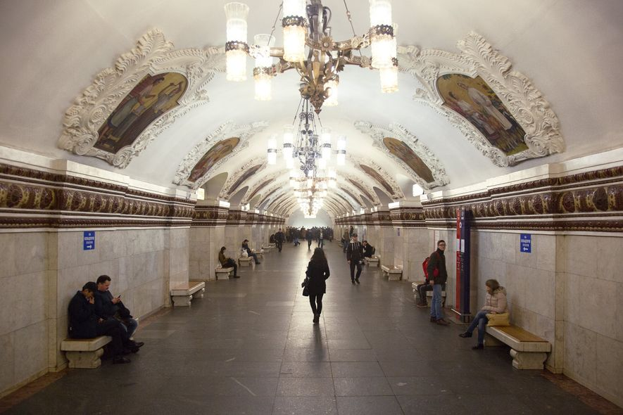 Die überraschende Eleganz der Moskauer Metro