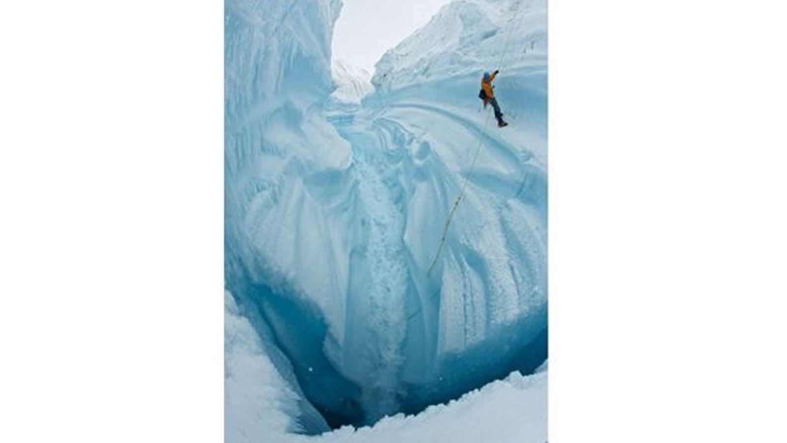 Kletterer am Gletscher