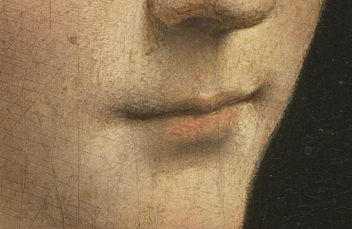 Seine Beherrschung von Licht und Schatten offenbart erst die Sinnlichkeit der Liebhaberin des Herzogs von Mailand.