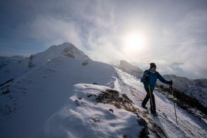 Winterwanderung in den Ammergauer Alpen.