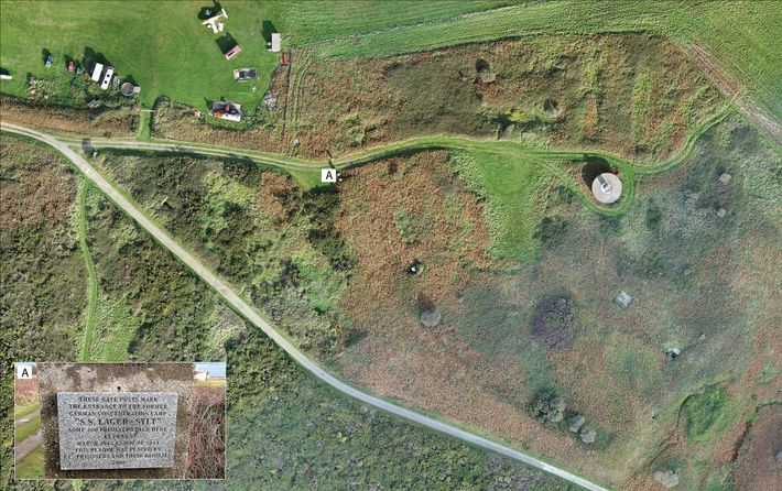 Luftaufnahme des Lagers Sylt