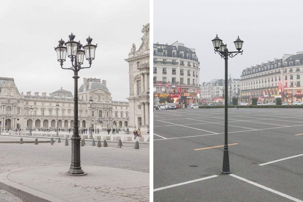 Auch mit kleinen Details soll in Tianducheng (rechts) eine Pariser Atmosphäre erzeugt werden.