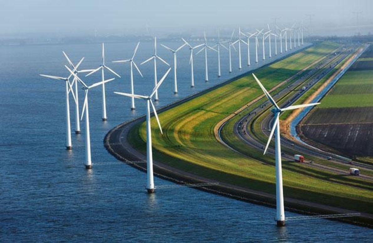 Land der Windmühlen und Deiche