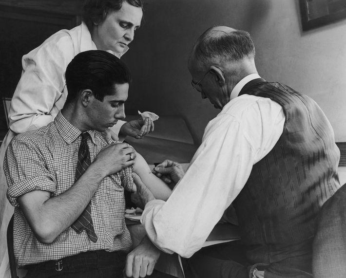 Impfung gegen Pocken in New York, 1938