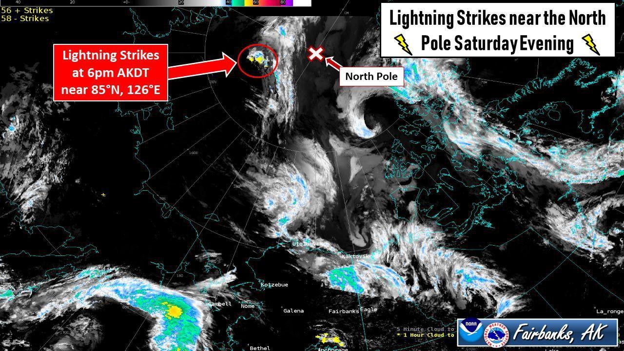 Nicht normal: 48 Blitzeinschläge am Nordpol innerhalb eines Tages | National Geographic