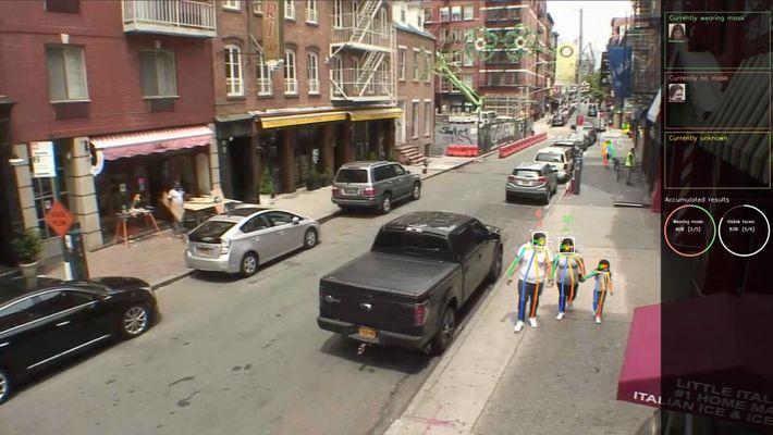 Die Analyse von CCTV-Aufnahmen mit Maskenerkennungssoftware könnte einen Eindruck davon vermitteln, wie viele Menschen in einem ...