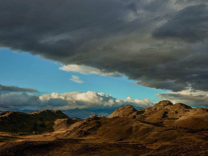 Ausblick von der Lodge im Valle Chacabuco im Parcque Patagonia
