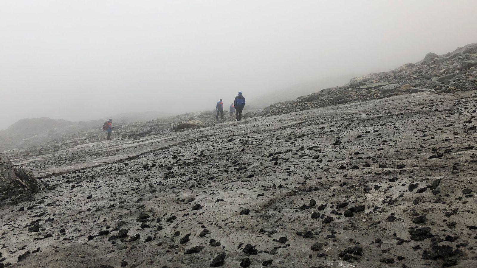 Das Lendbreen-Eisfeld in Norwegen, hier zu sehen auf einer Aufnahme von 2019, schmilzt. Zum Vorschein kommen ...