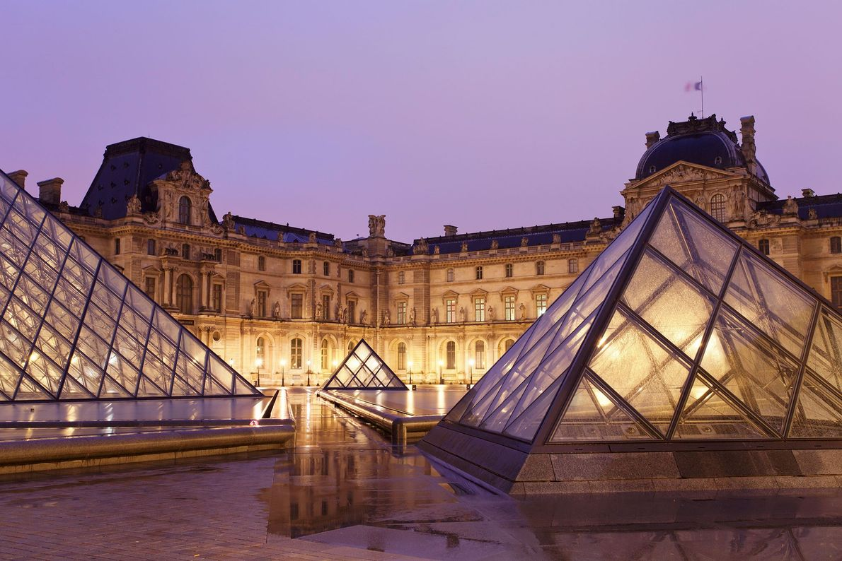 Der Eingang des Louvre