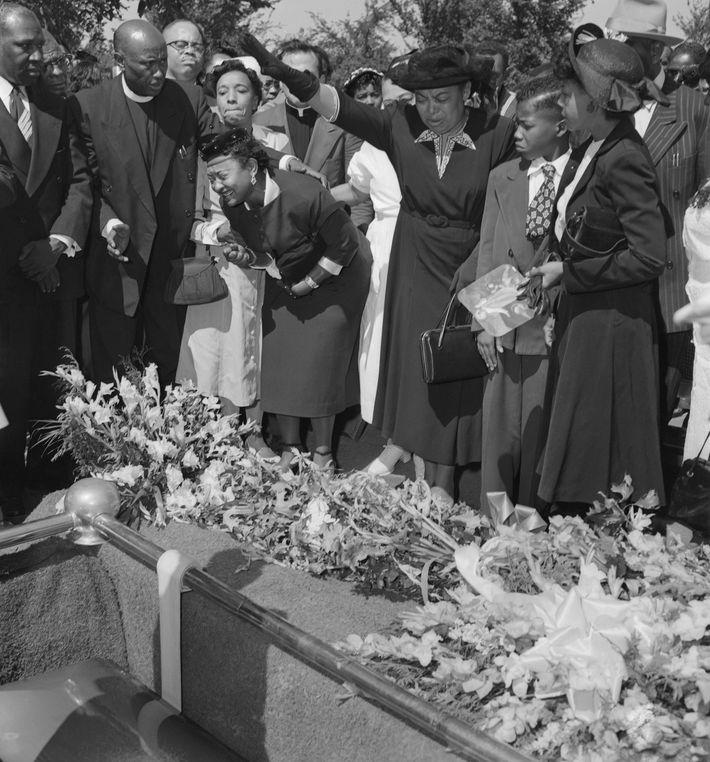 Mamie Till-Mobley beim Begräbnis ihres Sohnes