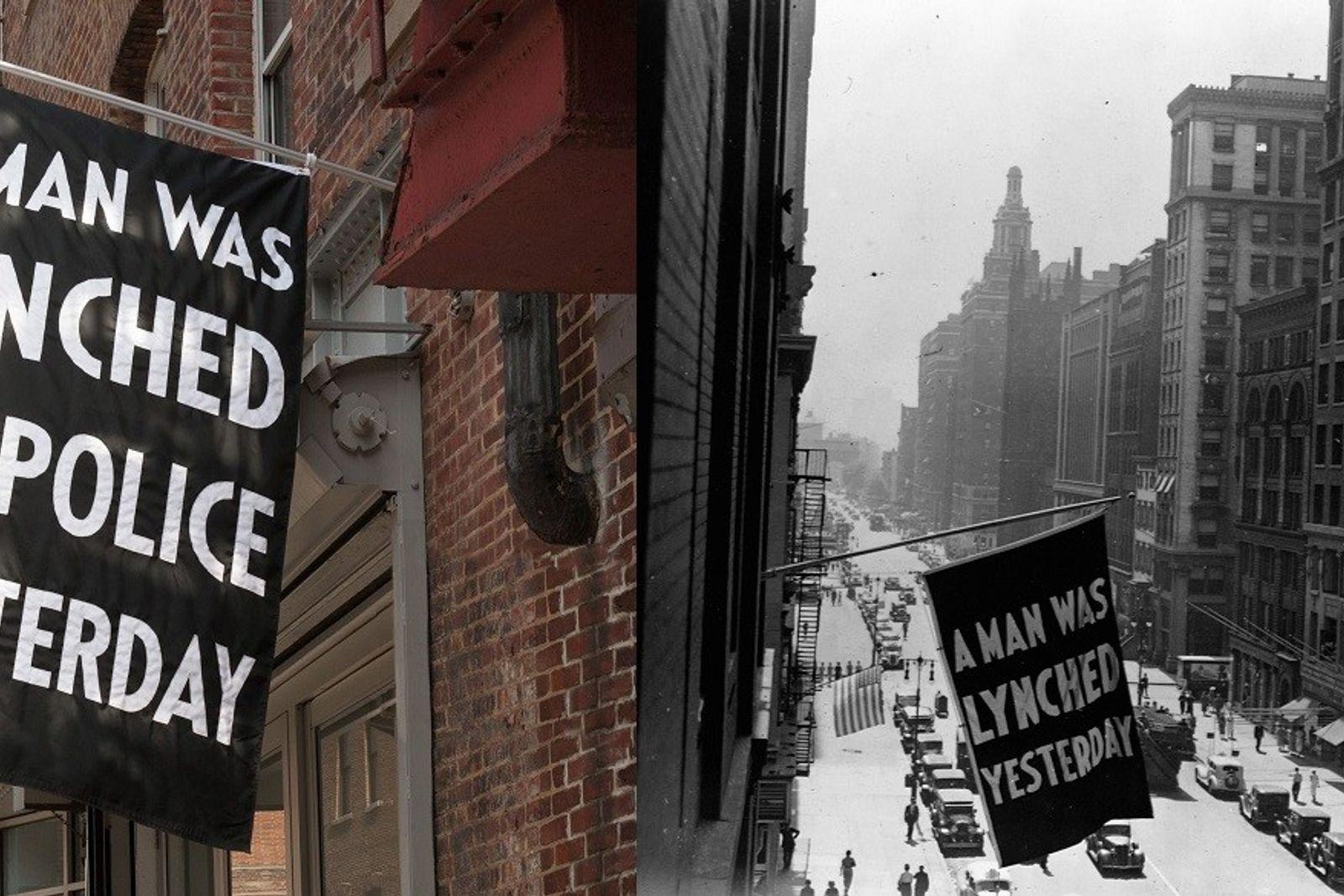 Left:Von 1920 bis 1938 ließ die National Association for the Advancement of Colored People vor ihrem ...
