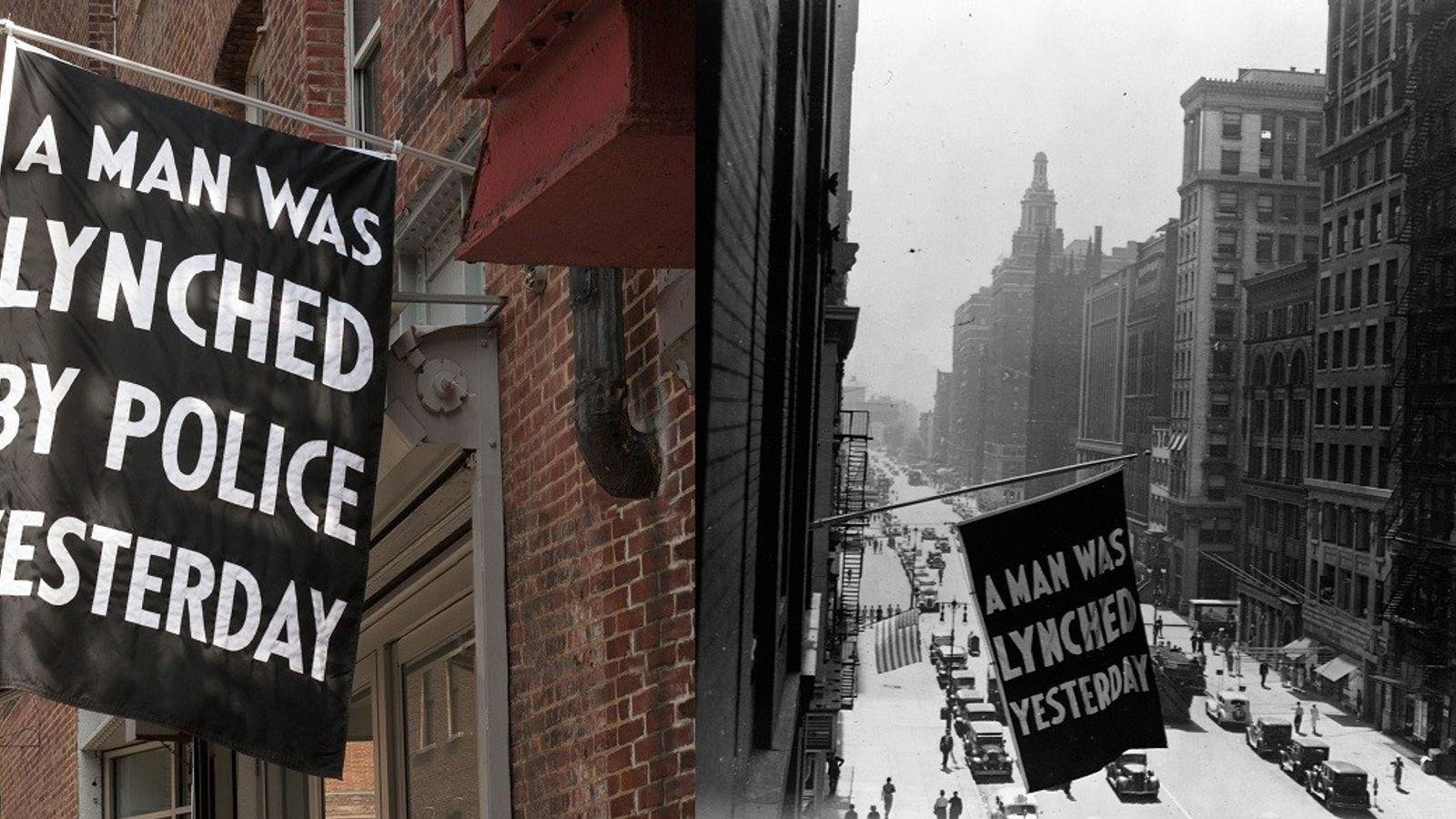 Left: Von 1920 bis 1938 ließ die National Association for the Advancement of Colored People vor ihrem ...
