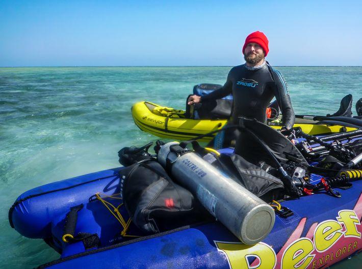 Riff schonen ohne Motorboot