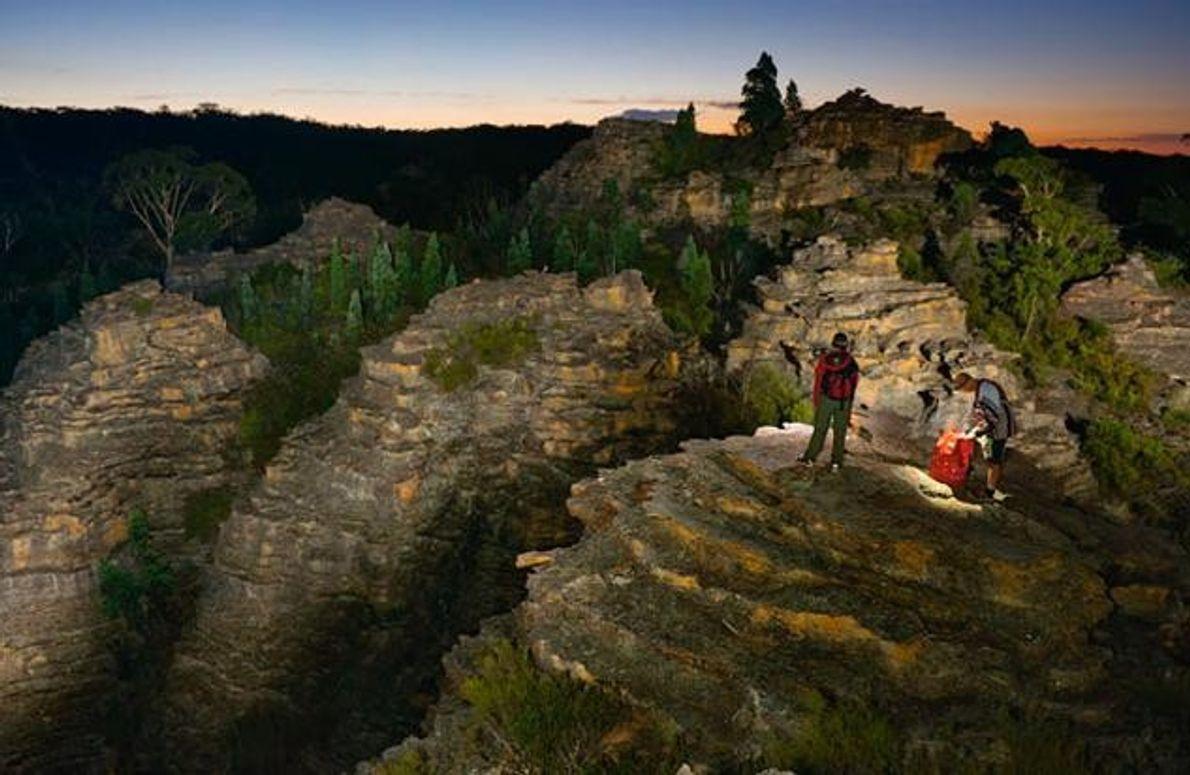 Mark Jenkins auf den Pagoda Rocks
