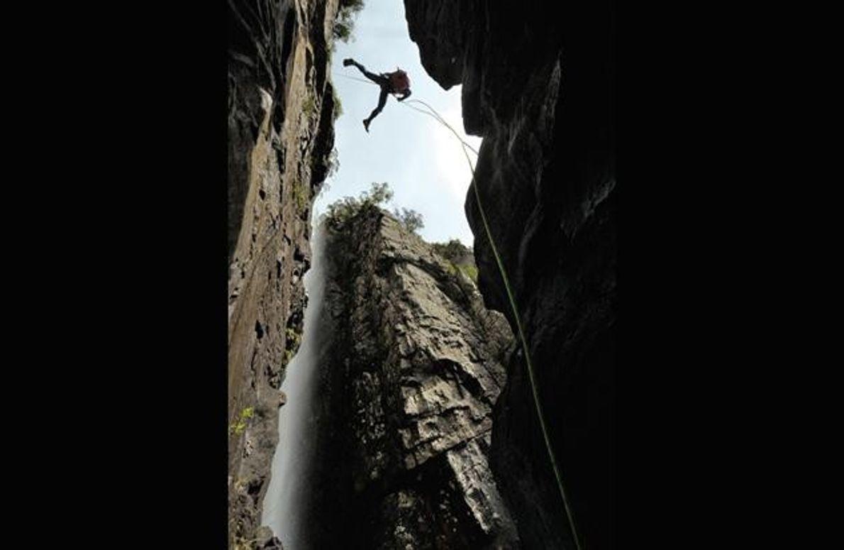 Mark Jenkins im Kanangra Main Canyon