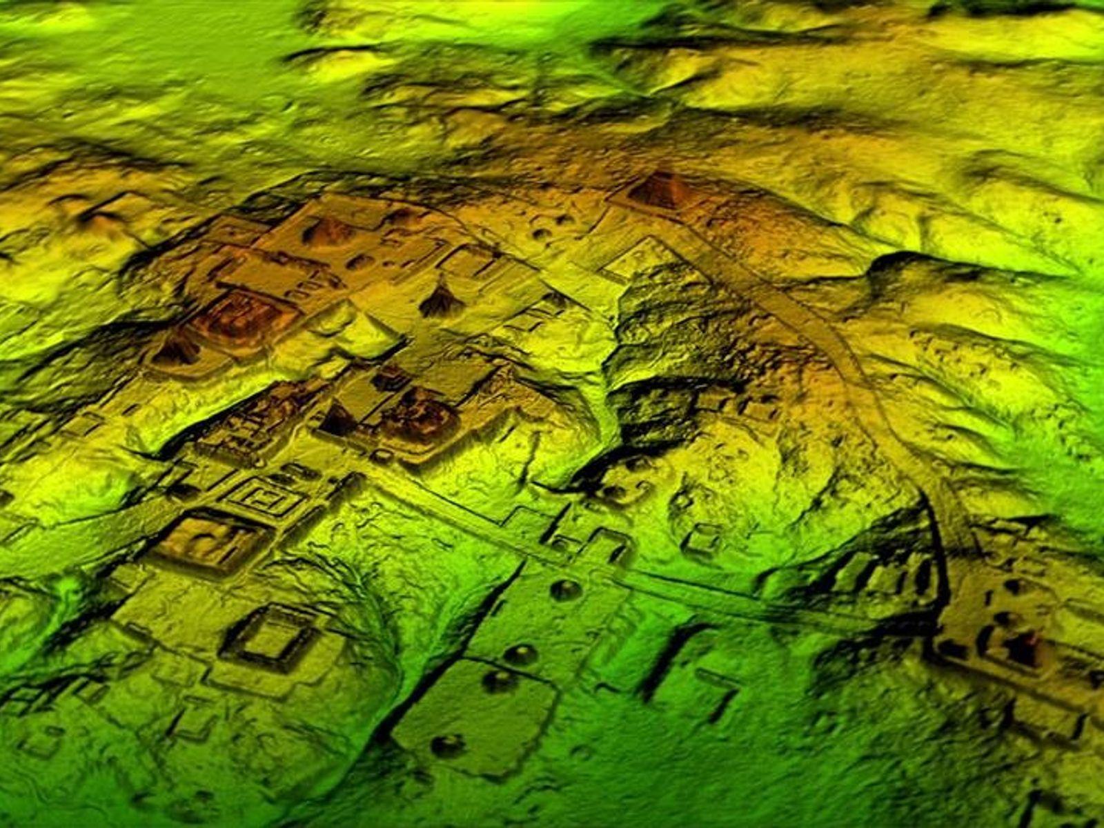 Lidaraufnahmen offenbaren, was sich unter dem Blätterdach des Dschungels verbirgt. So fanden Forscher heraus, dass alte ...