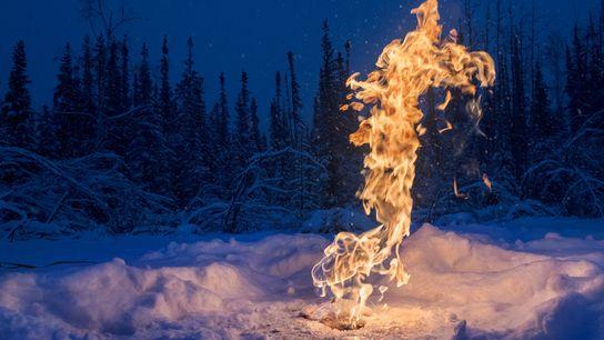 Methangas entweicht aus natürlichen geologischen Quellen, aber auch bei der Öl- und Erdgasförderung. Studien zeigen, dass ...