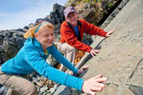 Im Mistaken Point Ecological Reserve können Besucher zahlreiche Fossilien entdecken. Es ist der einzige Ort auf ...