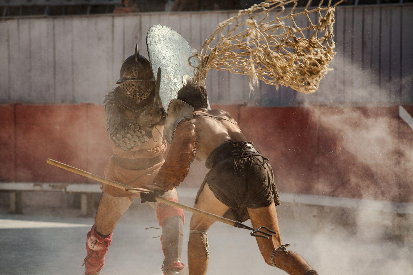 Gladiatoren waren nicht so, wie im Film dargestellt. Bei ihren Kämpfen ging es eher darum, ein ...