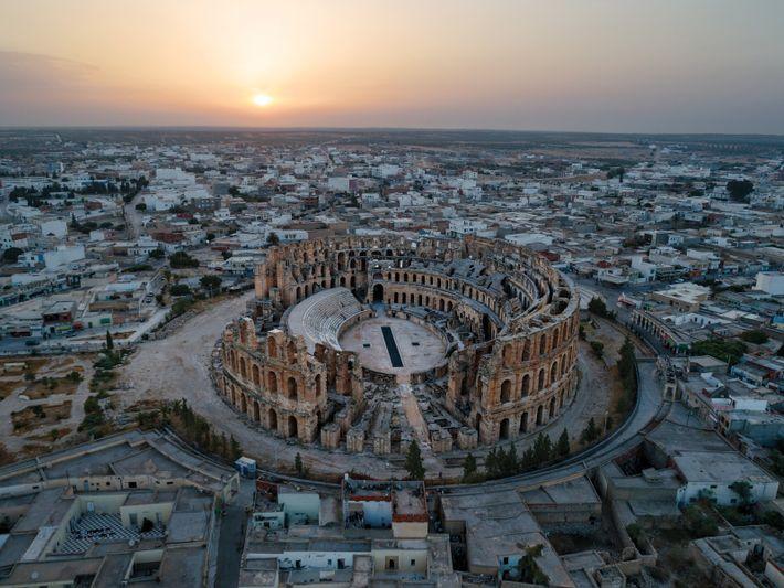 Ruine des Amphitheaters von El Djem in Tunesien