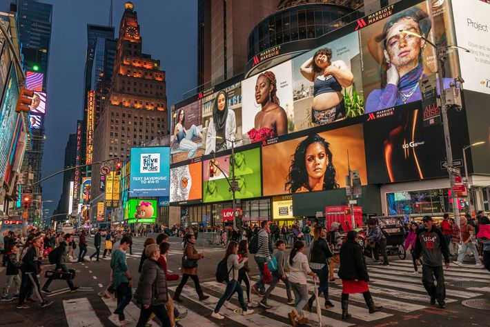Werbung Times Square in New York