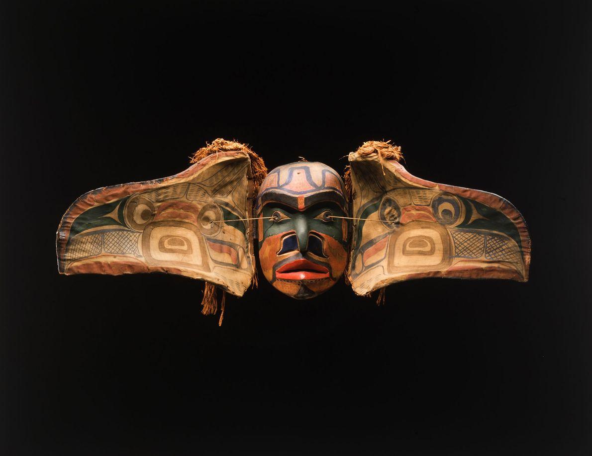 Eine Donnervogel-Maske der Kwakwaka'wakw