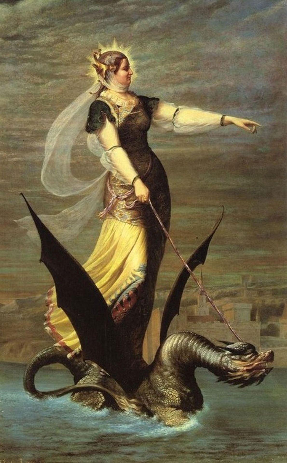 Die Tarasque und die Heilige Martha