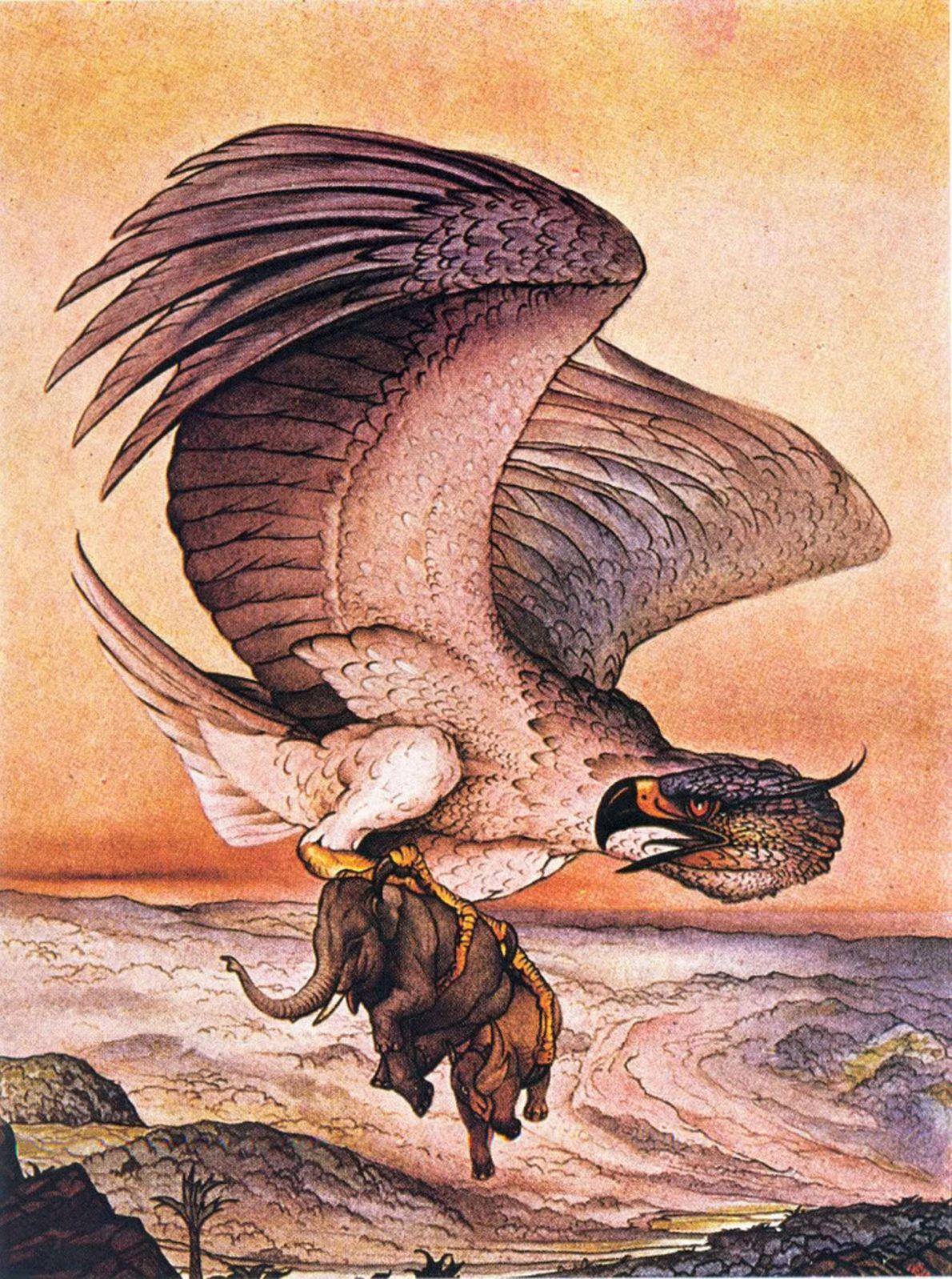 Der Riesenvogel Roch