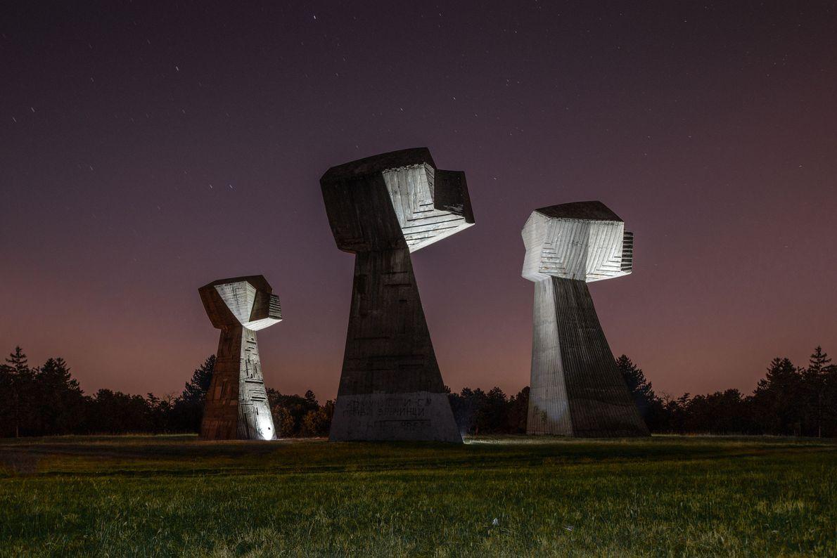 Skulptur drei Fäuste
