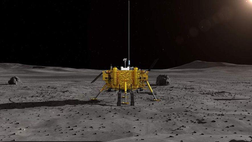 Chang'e-4 schickt erste Bilder von der dunklen Seite des Mondes