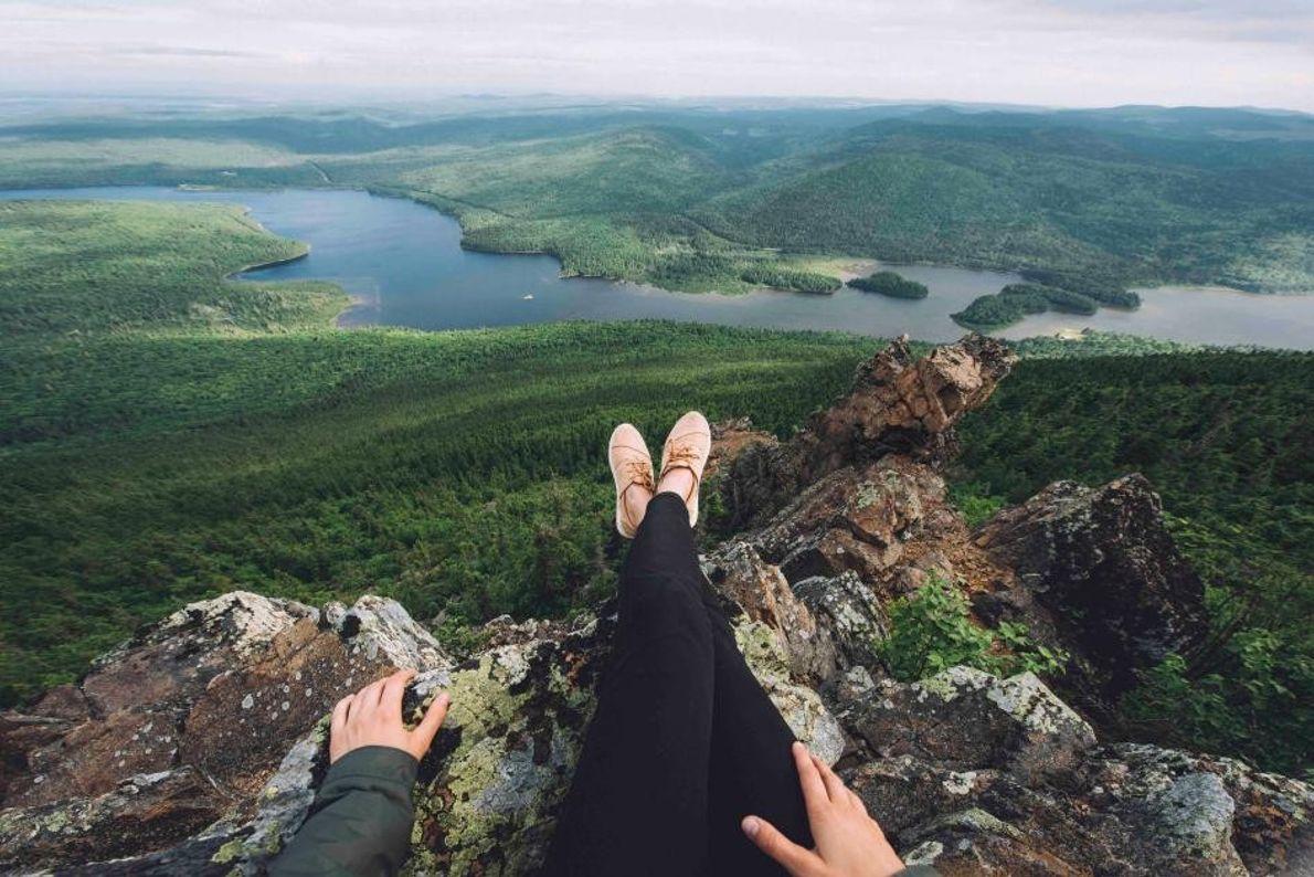 Nach einer Wanderung durch den Mount Carleton Provincial Park können Besucher sich entspannen und die überwältigende ...