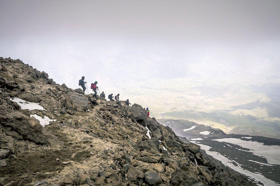Wanderer auf dem Damāvand