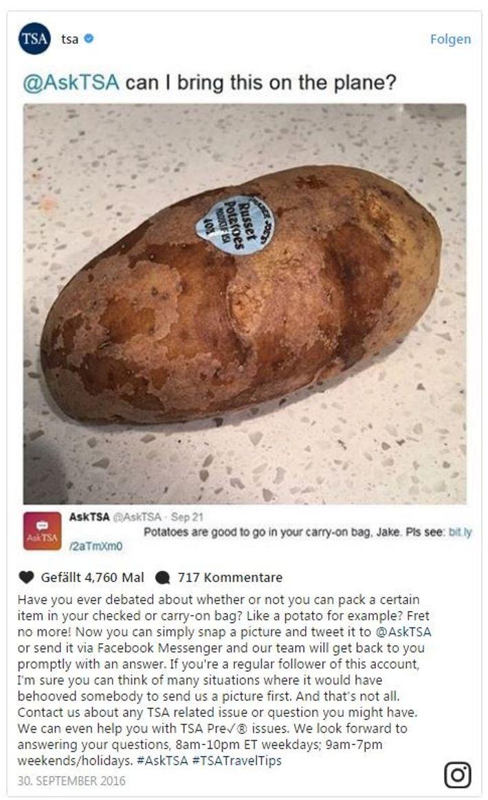 Kartoffel an Bord