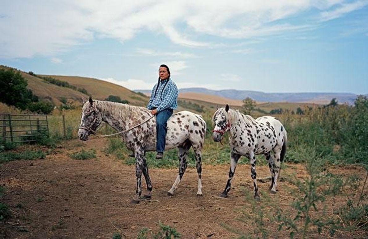 Nakia und seine Appaloosa-Pferde