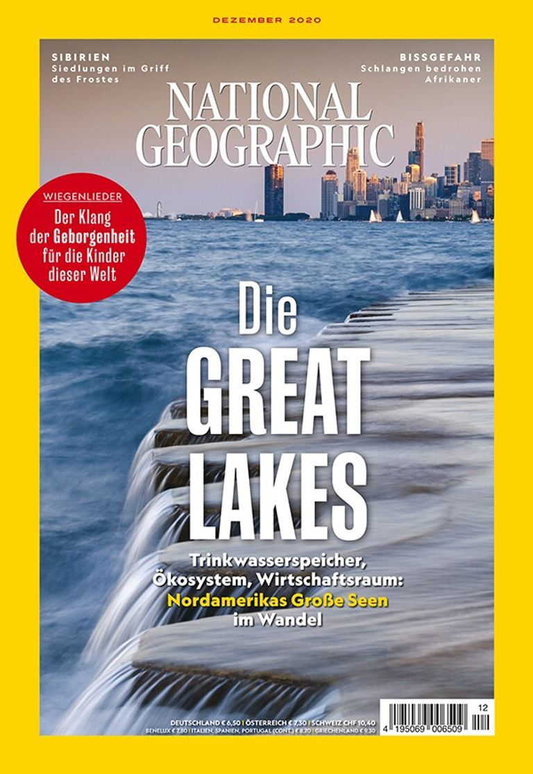 National Geographic-Magazin Dezember 2020 Titelthema Great Lakes