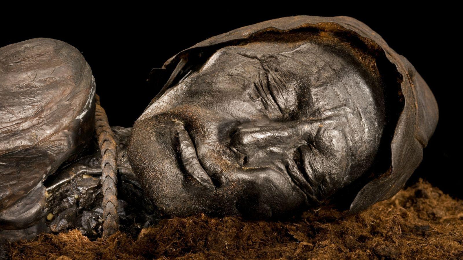 Vor etwa 2.400 Jahren wurde der Tollund-Mann mit einer Lederschlinge erwürgt und in einen dänischen Sumpf ...