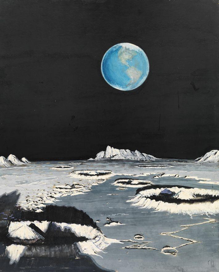 Im Gegensatz dazu weist dieses Bild der Erde vom Mond aus gesehen, das ebenfalls 1939 entstand, ...