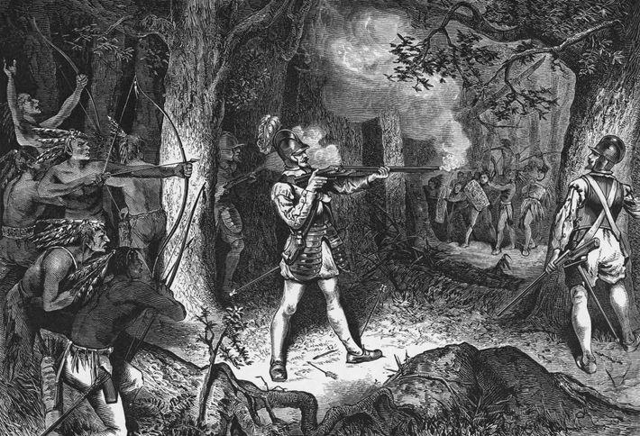 """Samuel de Champlain, der Gründer von Quebec, gilt als der """"Vater Neufrankreichs"""". Aber weil die französischen ..."""
