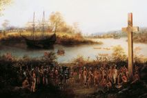 1534 begann Jacques Cartier die erste von drei Expeditionen zur Erkundung des Gebiets, aus dem Neufrankreich ...