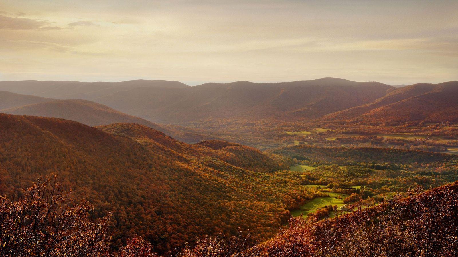Bunte Wälder zieren die Landschaft der Berkshires im Westen von Massachusetts.
