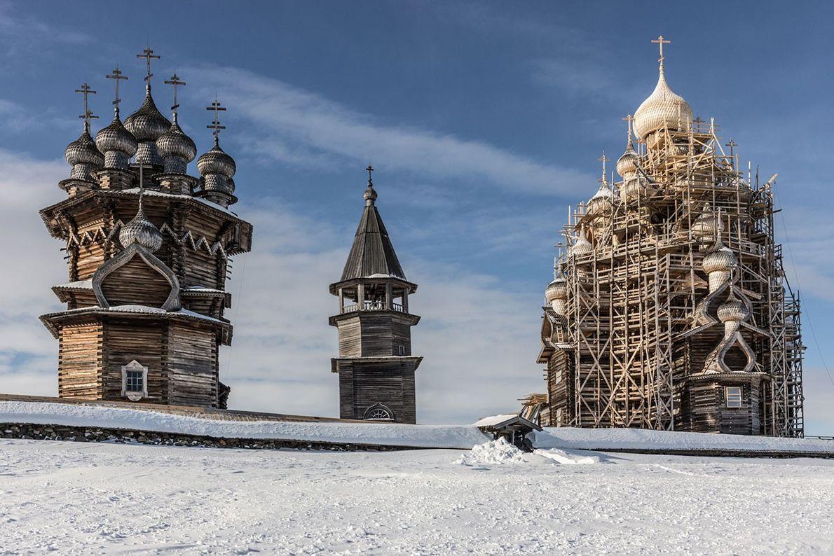 Holzkirchen von Kischi Pogost, Karelien, Russland