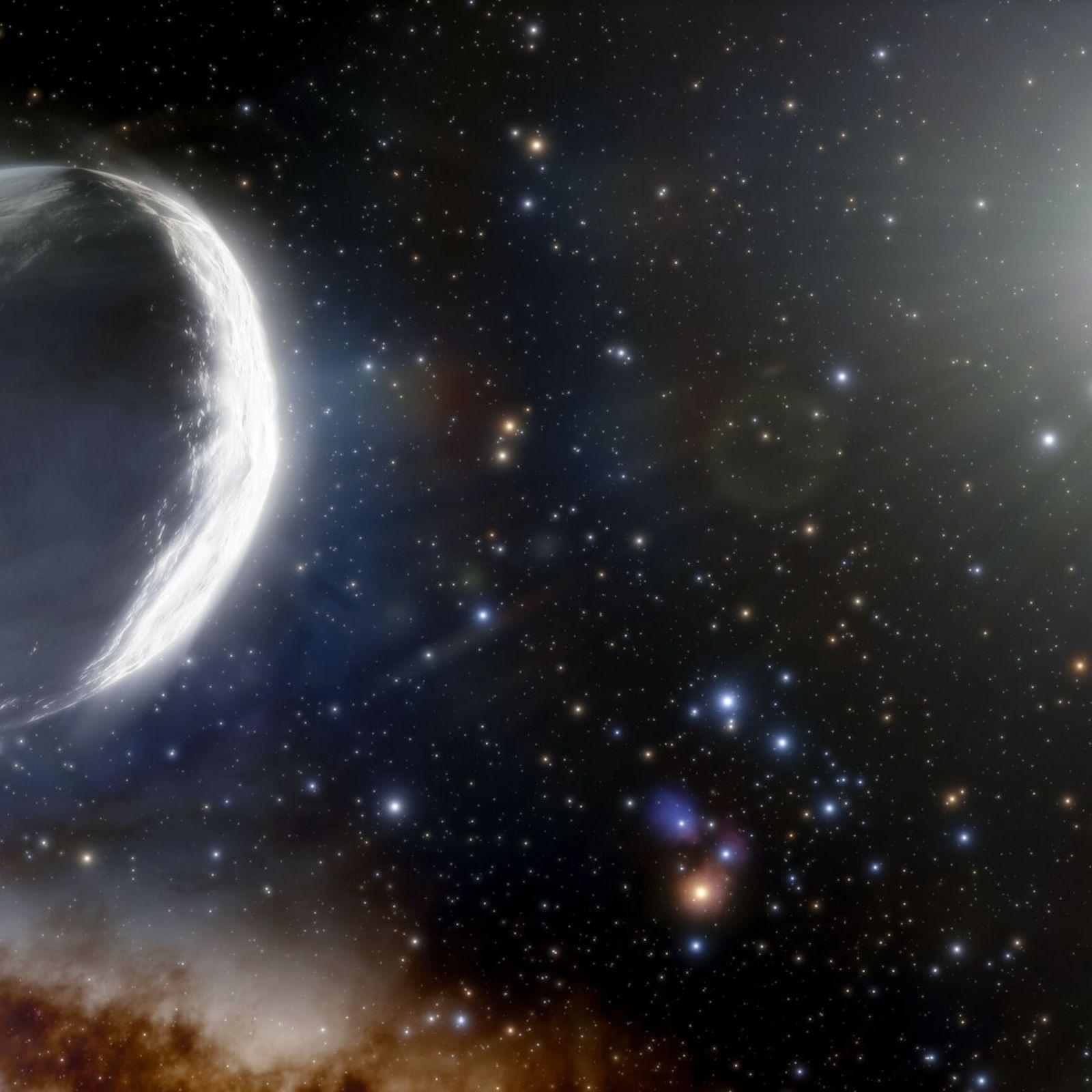 Von dem hier illustrierten Kometen Bernardinelli-Berstein wird vermutet, dass er ungefähr tausendmal größer ist als ein ...