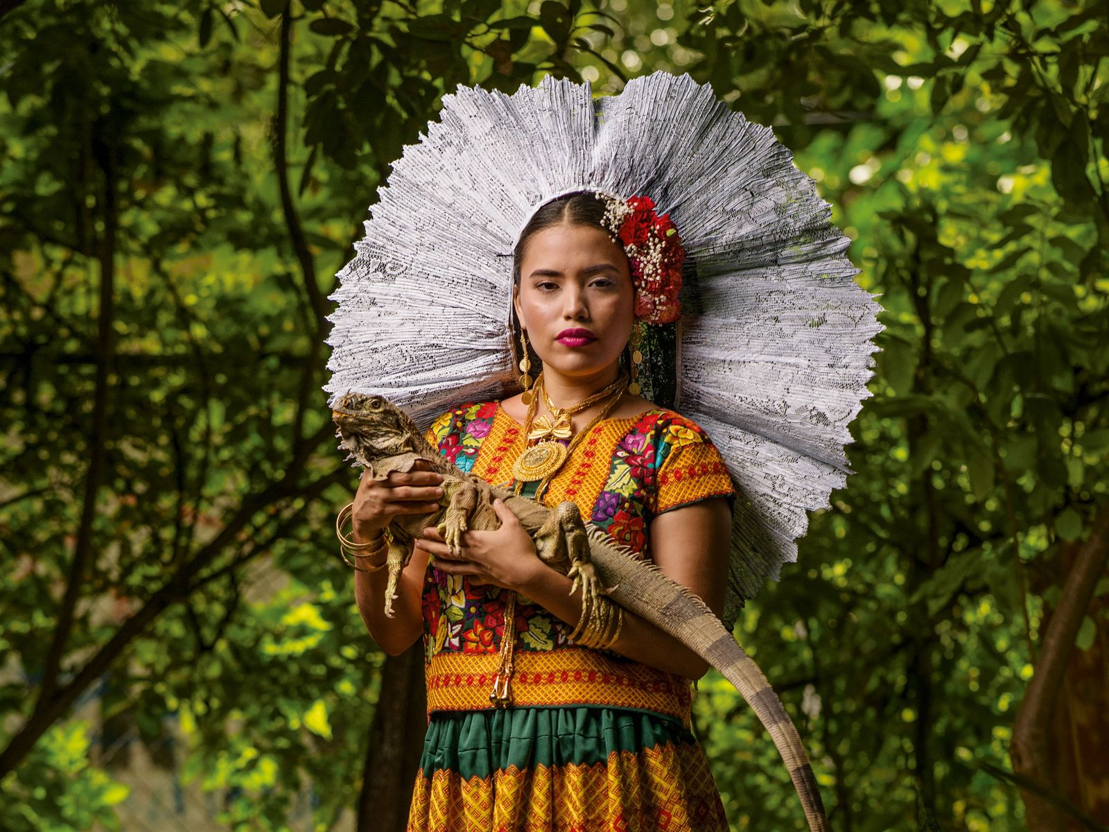 Oaxaca Frau Leguan