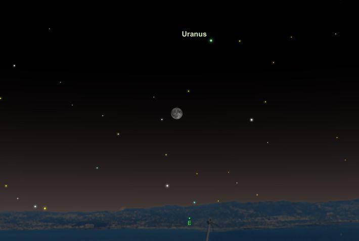 Uranus wird am 24. Oktober größer und heller als das ganze Jahr über erscheinen.